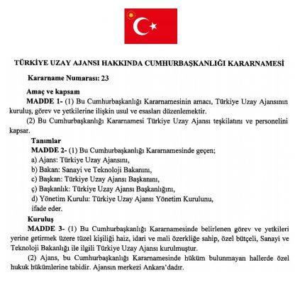 Türkiye Uzay Ajansı Kuruldu! Türkiye Uzay Ajansı Nedir? 2